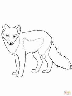 Fox Coloring Page, New Year Coloring Pages, Printable Adult Coloring Pages, Coloring Pages For Kids, Coloring Sheets, Printable Crafts, Printables, Summer Coats, Arctic Fox
