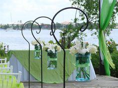 Beautiful green theme destination wedding decor.  #destinationwedding #destinationweddings