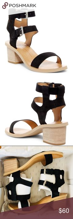 """Dolce Vita Sandals Dolce Vita West Dual Ankle Strap Sandal. Open toe, banded vamp construction, open cupsole, mock stacked Block Heel, approx 2.5"""" Heel. Nubuck upper, manmade lining and sole. Dolce Vita Shoes Sandals Ankle Strap Sandals, Shoes Sandals, Open Toe Shoes, Fashion Design, Fashion Tips, Fashion Trends, Block Heels, Construction, Best Deals"""
