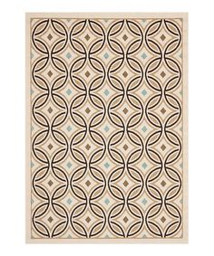 Love this Brown & Tan Circles Indoor/Outdoor Rug on #zulily! #zulilyfinds