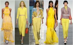 Yellow (LFW) Bora Aksu, Emilia Wickstead, Paul Smith, PPQ and L'Wren Scott