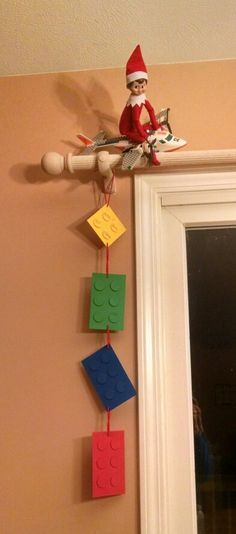 Elf on the Shelf. Count down to first ever plane ride and Lego land