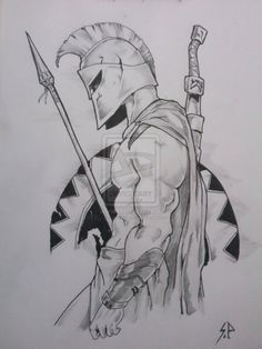 Image result for Spartan Warrior Drawings