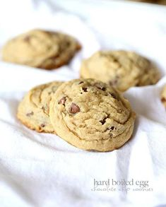 Hard Boiled Egg Chocolate Chip Cookies! - Yep! Use leftover hard boiled eggs in these AMAZING thick chocolate chip cookies!