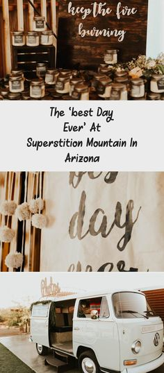 The 'Best Day Ever' at Superstition Mountain in Arizona - Tremaine Ranch. A Bride and Her Bridesmaids at a Desert Wedding. #dreamwedding #arizonawedding #DifferentBridesmaidDresses #SatinBridesmaidDresses #BridesmaidDressesStyles #BridesmaidDressesBoho #BridesmaidDressesSpring