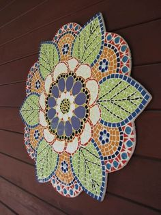 Items similar to Mosaic mandala, shown. Mosaic Wall Art, Mosaic Glass, Mosaic Tiles, Stained Glass, Glass Art, Mosaic Mirrors, Sea Glass, Mosaic Crafts, Mosaic Projects