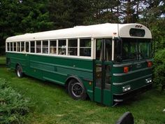 schoolbus converted into an RV. Very cool.