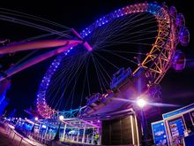 NIGHT LONDON EYE