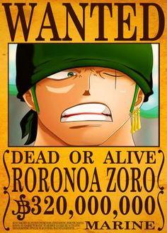 Metal Poster Roronoa Zoro