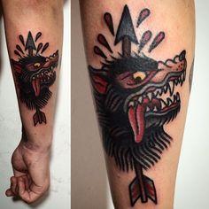 """marcuuscampos no Instagram: """"#tattoo #wolftattoo #starktattoo"""""""