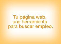 Tu página web, una herramienta para buscar empleo.