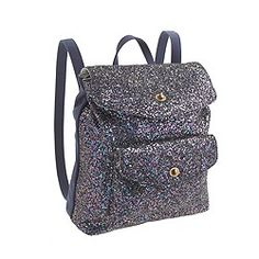 Girls' glitter backpack, J Crew
