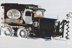 Winter dream machine (Model A Ford snowmobile) by Patrick Makowski Lifted Ford Trucks, Cool Trucks, Pickup Trucks, Ford Diesel, Diesel Trucks, Ford Explorer Accessories, Truck Accessories, Snow Vehicles, Strange Cars