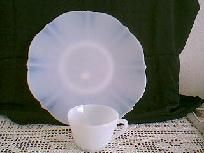 2 Pieces American Sweetheart Depression Glass Free Shipping