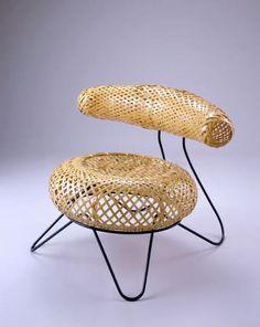 ISAMU NOGUCHI bamboo basket chair 1950