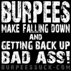 Ooh gotta love/hate relationship with Burpees lol but ooh do they work