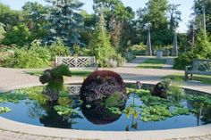 The winding paths and free-form beds of Assiniboine Park's English Garden are indicative of the English Landscape style, which sought to convey an idealized but approachable view of nature, as opposed to the regimented symmetry of the Formal Garden. Pinterest Garden, Rooftop Pool, Outdoor Gardens, Paths, Rule Britannia, English Gardens, Rooftops, Green Walls, Explore