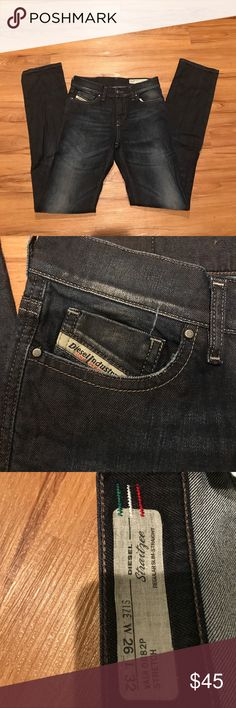 Diesel Jeans W26 L32 Diesel Straitzyee Jeans- regular-slim straight. Theses jeans make your legs look super long! Unfortunately they have become too tight on me- and I only wore them a few times. Great used condition Diesel Jeans Straight Leg