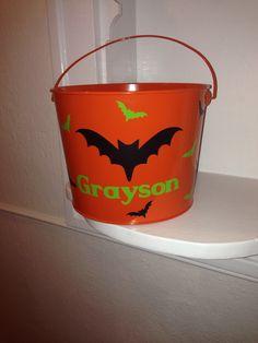 Bat halloween bucket