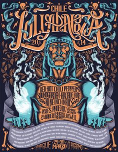 Lollapalooza Poster by Marco Villar, via Behance