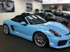 Finally my blue cloud....! - Rennlist Discussion Forums Boxster Spyder, Porsche 718 Boxster, Lux Cars, Vintage Porsche, Porsche Carrera, Car Colors, Blue Clouds, Porsche Cars, Lamborghini Gallardo