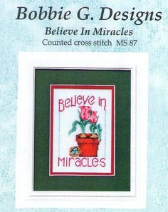 Christmas Believe In Miracles Cross Stitch Chart