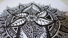 Zentangle Zeichnung #4 * Zeitraffer
