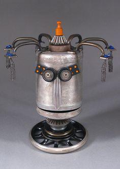 Robot Sculpture  Metal art sculpture Junk by CastOfCharacters23, $110.00