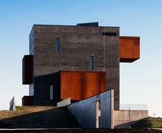 Foldes Architects abstracts the spirit of a volcano in their design of the recently opened Kemenes Volcanopark Visitor Center in western Hungary.