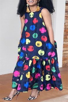 Sleeveless Printed Boho Maxi Dress - Winter Christmas Fashion 2020 New Style Women's Clothing Clothes Casual Party Sleeveless Printed Boho Maxi Dre. African Maxi Dresses, African Fashion Ankara, Latest African Fashion Dresses, African Print Fashion, African Attire, Dress Fashion, African Traditional Dresses, Perfect Prom Dress, The Dress