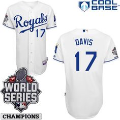 f5efe24a0 Kansas City Royals Authentic Salvador Perez Home Jersey World Series  Champions Patch
