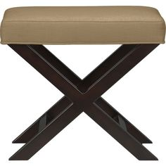 X-Base Bench-Vanity Stool in Benches | Crate and Barrel, fabric Napa cafe