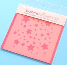Scattered Stars Cookie Stencil