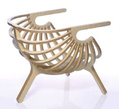 Plywood Wood Chair Design by Branca
