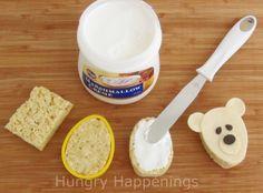 Twelve days of sweet designs, Day 2 - Polar Bear Treats - Jaxson turns 4 ❤️ - Bento Ideas Cereal Treats, Rice Krispie Treats, Rice Krispies, Bento Tutorial, Polar Bear Party, Homemade Cereal, Modeling Chocolate, Sweets, Snacks