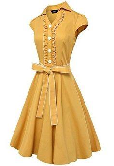 681f5a2f92c Hepburn Style Women s Fashion Summer V-neck Sexy Party Dress