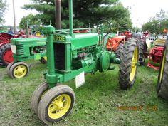John Deere unstyled Model A John Deere Equipment, Old Farm Equipment, Old John Deere Tractors, Antique Tractors, Engine Rebuild, Going To Work, Lovers, Boys, Green