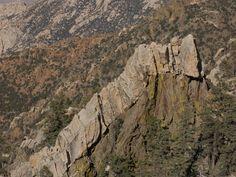 Stone caterpillar - A rock formation on the eastern side of the Sierra de San Pedro Mártir in Baja California