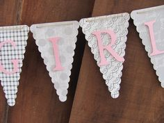Sweet Baby Girl Banner Baby Shower Banner by twogirlspaperdesign
