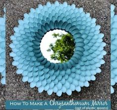Chrysanthemum Mirror Out Of Plastic Spoons!