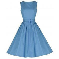 Audrey Pastel Blue Swing Dress | Vintage Style Dresses - Lindy Bop
