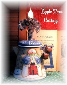 pRiM wiNtEr cOffEE pOt LaMp  SPECIAL REQUEST by appletreecottage