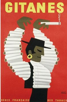 Poster Print Wall Art Print entitled Gitanes, Cigarettes,Vintage Poster, by Herve Morvan Retro Poster, Poster S, Retro Ads, Poster Prints, Vintage Advertising Posters, Vintage Advertisements, Vintage Posters, Old Posters, Illustrations And Posters