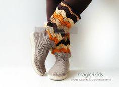 Crochet boots pattern instant downloadcrochet boots by magic4kids