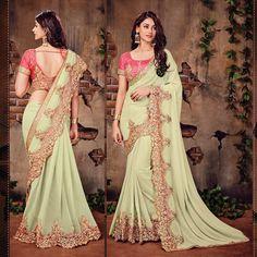 indian latest saree blouse embroidery bollywood designer uk ethnic wedding party #Designer #SariSaree