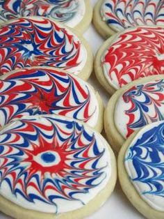 Psychedelically Patriotic Cookies