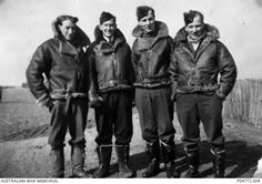 Airmen photographed 1942 in (from left to right) 1939 Pattern boots, 1940 Pattern boots, 1936 Pattern boots, and 1941 Pattern escape boots with front zip leather straps