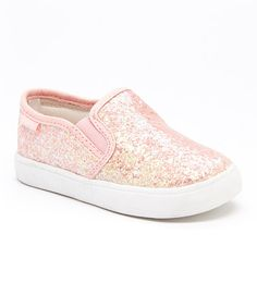 Another great find on #zulily! Pink Glitter Tween Slip-On Shoe by Carter's #zulilyfinds