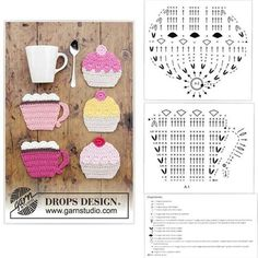 The world's catalog of creative ideas Crochet Coaster Pattern, Crochet Flower Patterns, Crochet Diagram, Crochet Chart, Crochet Blanket Patterns, Crochet Motif, Crochet Designs, Crochet Doilies, Crochet Flowers
