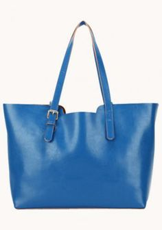 FELICIA LEATHER BAG BLUE $99.00